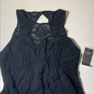 Black Lace Top Dress